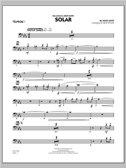 Solar - Trombone 1 (Jazz Ensemble)