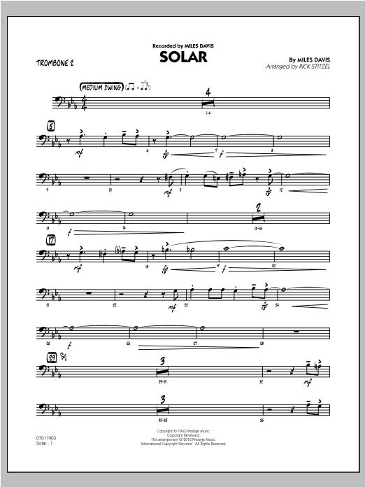 Solar - Trombone 2 (Jazz Ensemble)