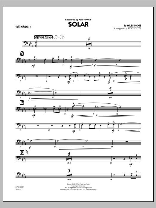 Solar - Trombone 3 (Jazz Ensemble)