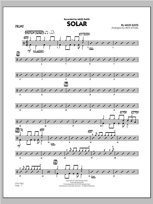 Solar - Drums (Jazz Ensemble)
