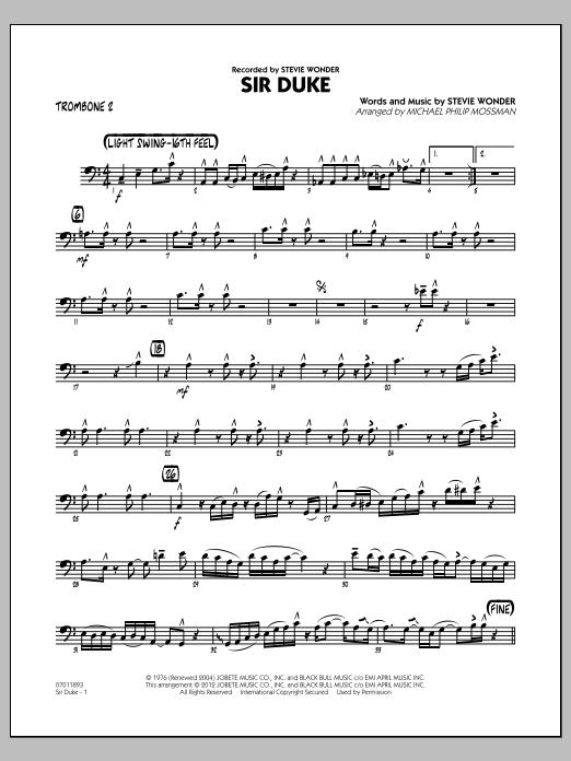 Sir Duke (arr. Michael Philip Mossman) - Trombone 2 (Jazz Ensemble)