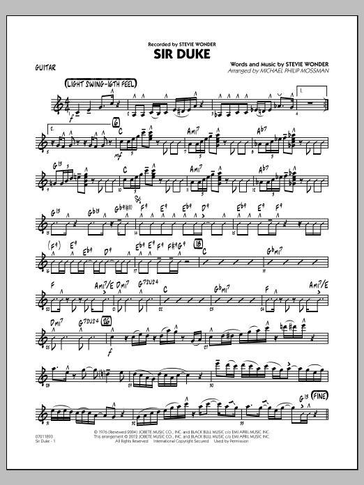 Sir Duke (arr. Michael Philip Mossman) - Guitar (Jazz Ensemble)