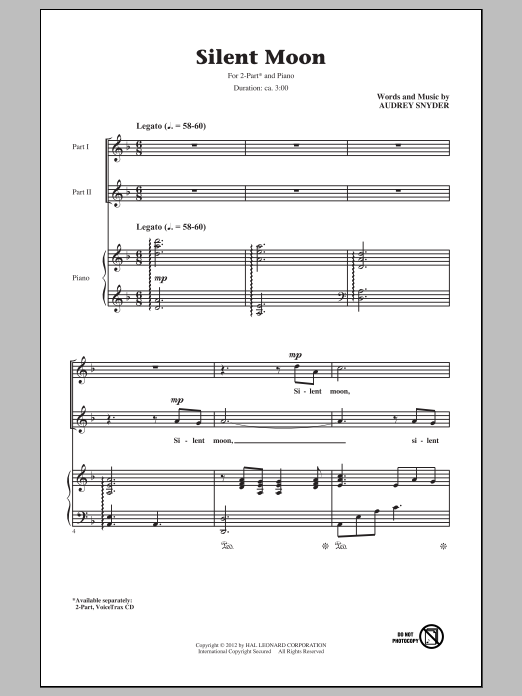 Silent Moon Sheet Music