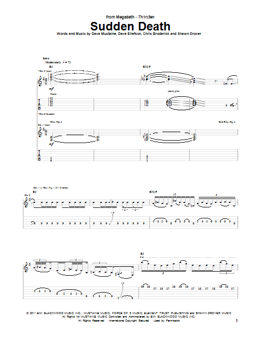 Sudden Death (Guitar Tab)