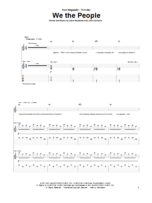 We The People (Guitar Tab)