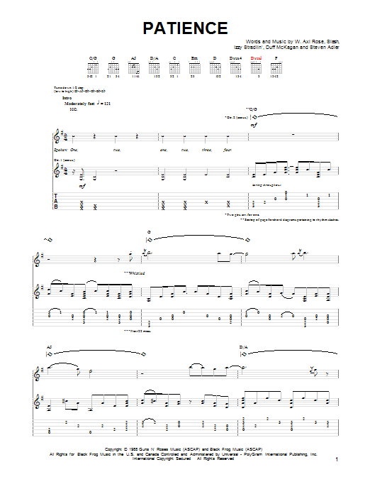 Passion Guns And Roses Chords – Fiori Idea Immagine