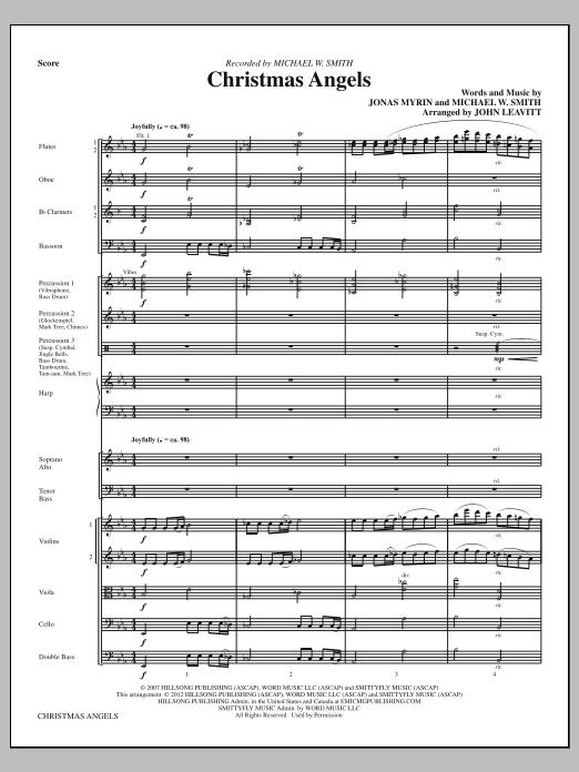 Christmas Angels - Full Score (Choir Instrumental Pak)