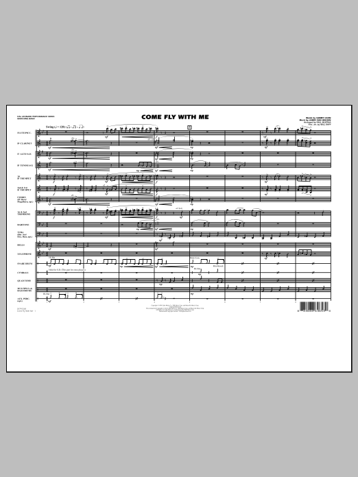 Come Fly With Me - Full Score (Marching Band)