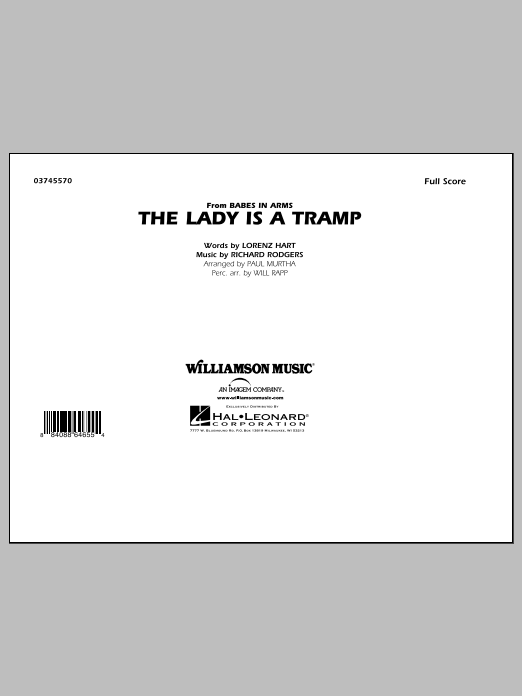 The Lady Is A Tramp (COMPLETE) sheet music for marching band by Paul Murtha, Lorenz Hart, Richard Rodgers and Will Rapp. Score Image Preview.