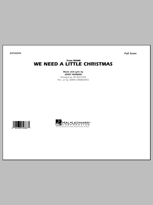 We Need A Little Christmas - Full Score (Marching Band)