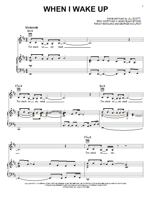 When I Wake Up Sheet Music