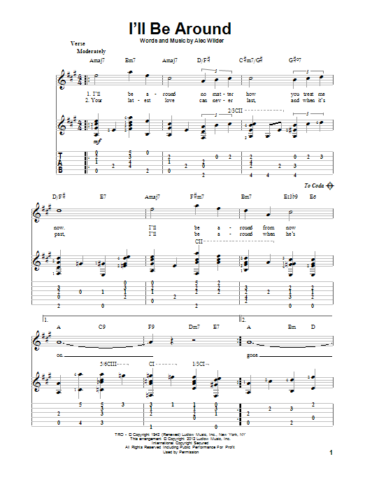 I'll Be Around (Guitar Tab)