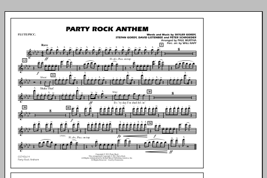 Party Rock Anthem - Flute/Piccolo (Marching Band)