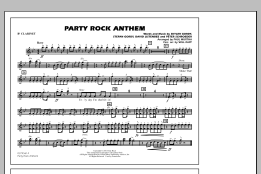 Party Rock Anthem - Bb Clarinet (Marching Band)