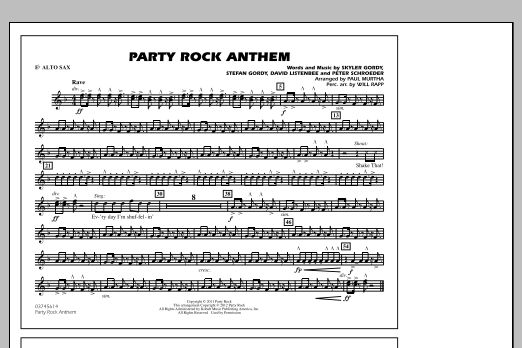 Party Rock Anthem - Eb Alto Sax (Marching Band)