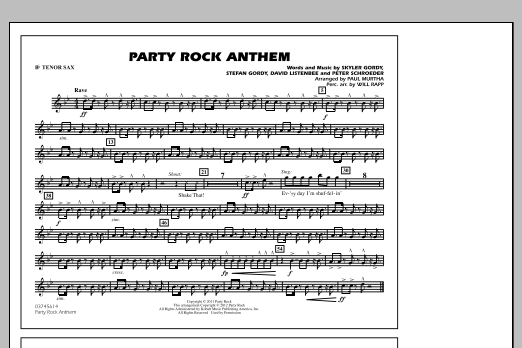 Party Rock Anthem - Bb Tenor Sax (Marching Band)