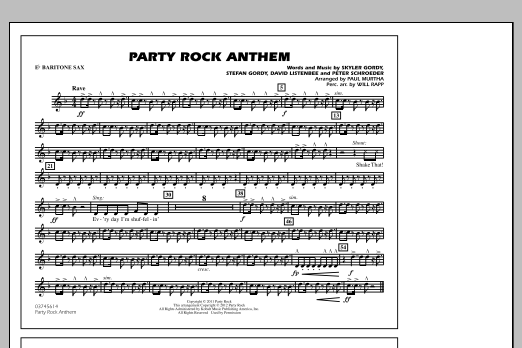 Party Rock Anthem - Eb Baritone Sax (Marching Band)
