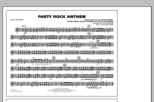 Party Rock Anthem - 2nd Bb Trumpet (Marching Band)