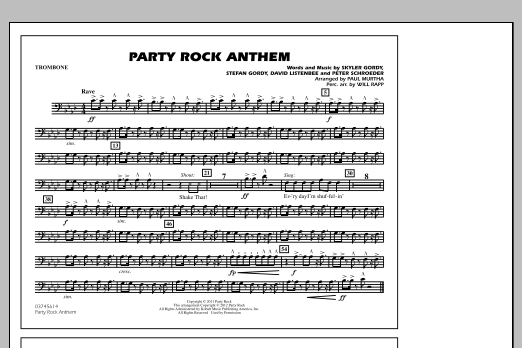 Party Rock Anthem - Trombone (Marching Band)