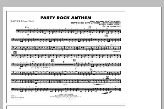 Party Rock Anthem - Baritone B.C. (Opt. Tbn. 2) (Marching Band)