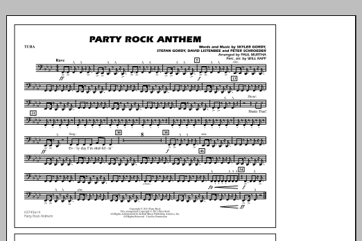 Party Rock Anthem - Tuba (Marching Band)