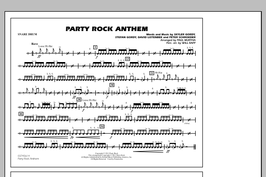 Party Rock Anthem - Snare Drum (Marching Band)
