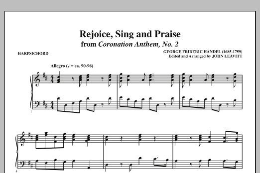 Rejoice, Sing And Praise - Harpsichord (Choir Instrumental Pak)