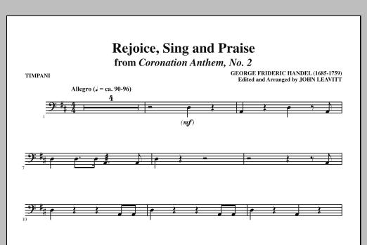 Rejoice, Sing And Praise - Timpani (Choir Instrumental Pak)