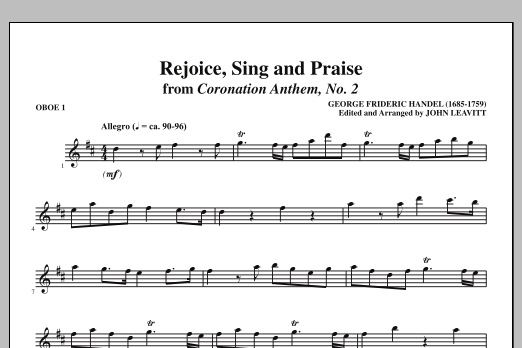 Rejoice, Sing And Praise - Oboe 1 (Choir Instrumental Pak)