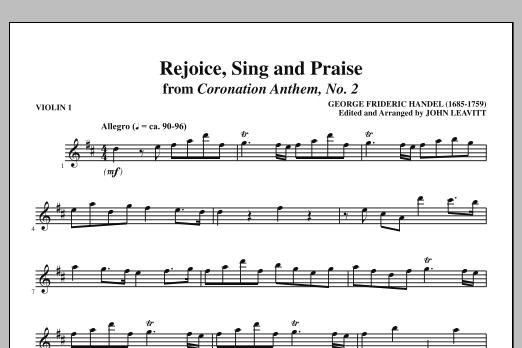 Rejoice, Sing And Praise - Violin 1 (Choir Instrumental Pak)