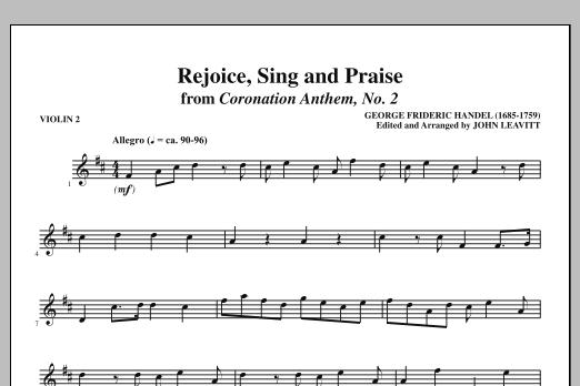 Rejoice, Sing And Praise - Violin 2 (Choir Instrumental Pak)
