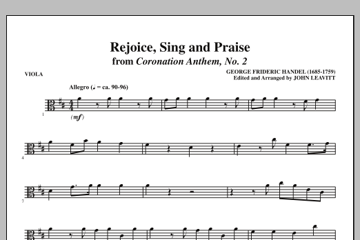 Rejoice, Sing And Praise - Viola (Choir Instrumental Pak)
