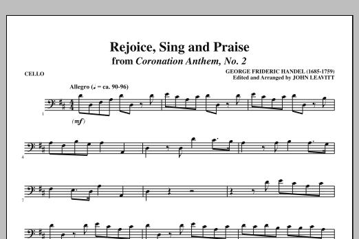 Rejoice, Sing And Praise - Cello (Choir Instrumental Pak)