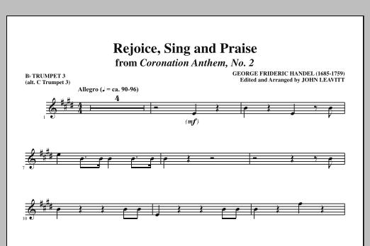 Rejoice, Sing And Praise - Bb Trumpet 3 (alt. C Tpt. 3) (Choir Instrumental Pak)