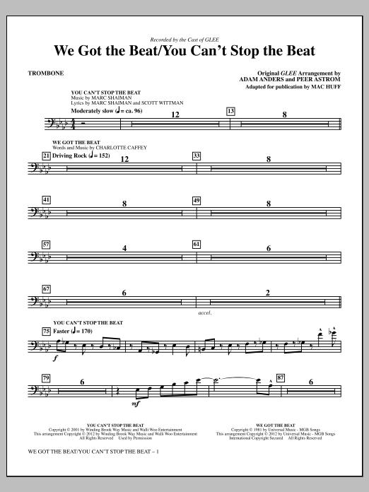 We Got The Beat / You Can't Stop The Beat - Trombone (Choir Instrumental Pak)