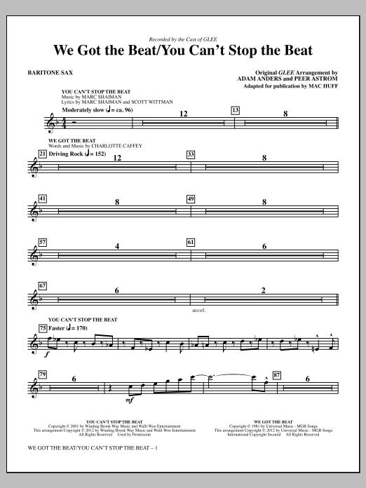 We Got The Beat / You Can't Stop The Beat - Baritone Sax (Choir Instrumental Pak)
