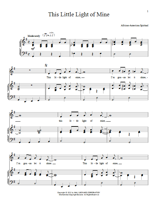 This Little Light Of Mine Sheet Music