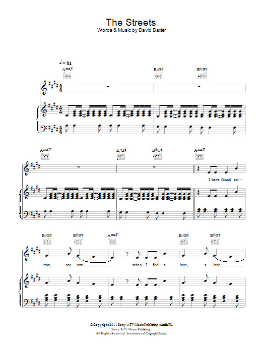 The Streets Sheet Music