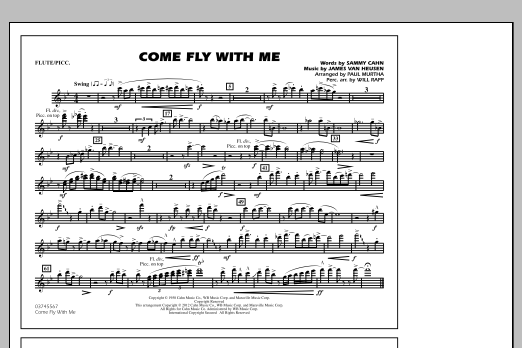 Come Fly With Me - Flute/Piccolo (Marching Band)