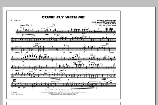 Come Fly With Me - Bb Clarinet (Marching Band)