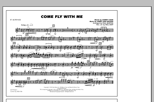 Come Fly With Me - Eb Alto Sax (Marching Band)