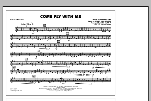 Come Fly With Me - Eb Baritone Sax (Marching Band)