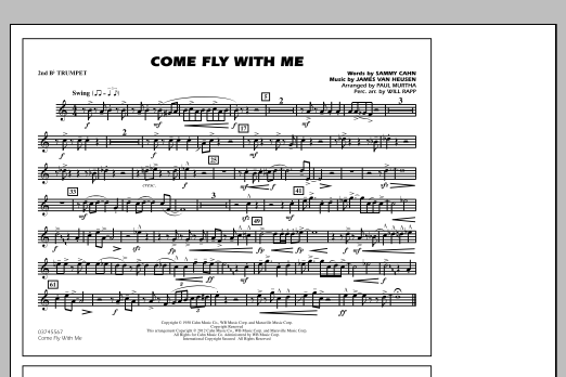 Come Fly With Me - 2nd Bb Trumpet (Marching Band)
