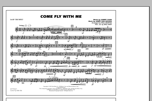 Come Fly With Me - 3rd Bb Trumpet (Marching Band)
