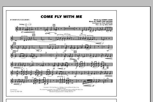 Come Fly With Me - Bb Horn/Flugelhorn (Marching Band)