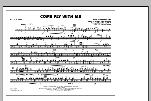 Come Fly With Me - 1st Trombone (Marching Band)
