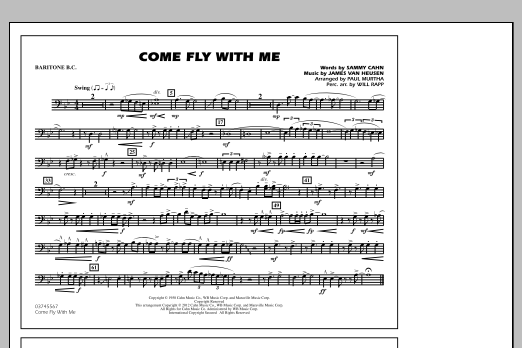 Come Fly With Me - Baritone B.C. (Marching Band)