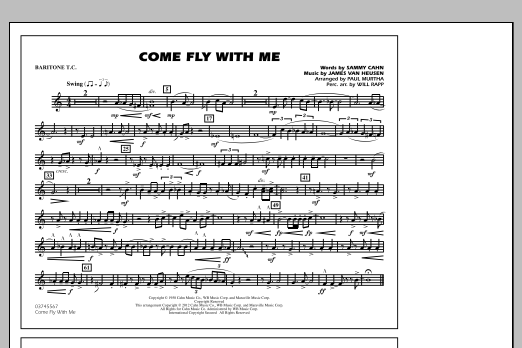 Come Fly With Me - Baritone T.C. (Marching Band)