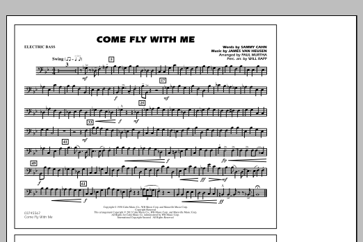 Come Fly With Me - Electric Bass (Marching Band)