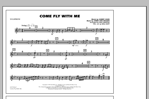 Come Fly With Me - Xylophone (Marching Band)